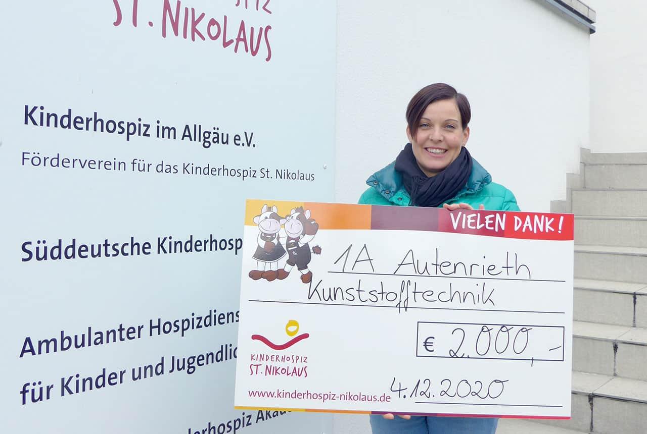 2.000 Euro an das Kinderhospiz St. Nikolaus gespendet