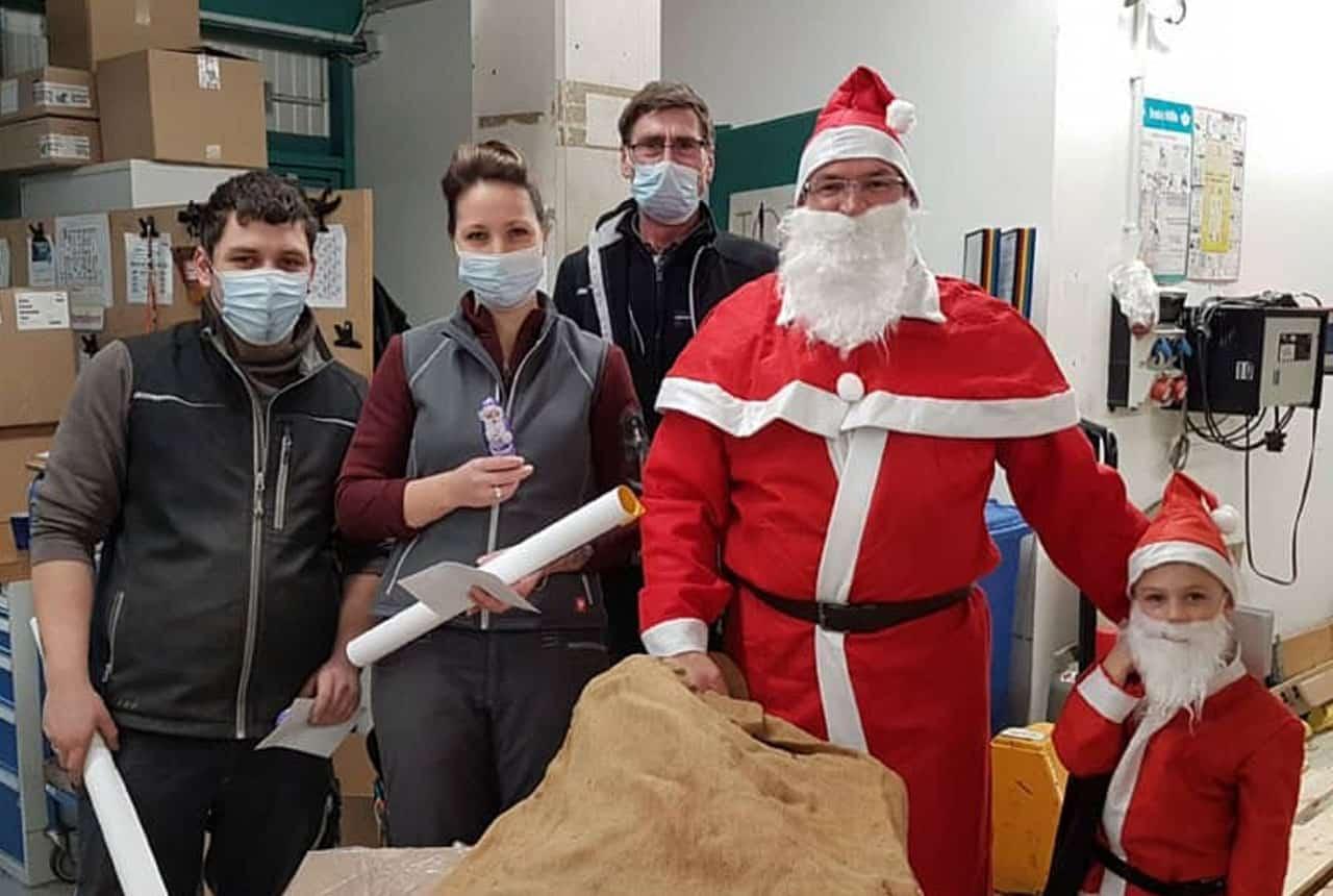Der Weihnachtsmann besucht uns