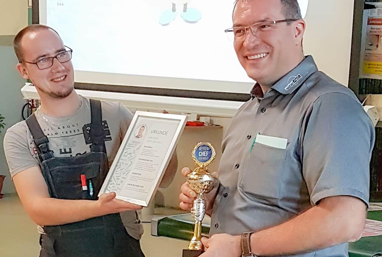 Auszeichnung für unseren Chef